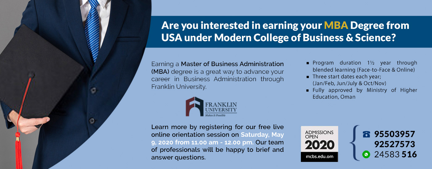 MBA Degree from USA
